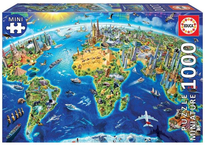 Puzzle educa 1000 piezas simbolos del mundo miniature