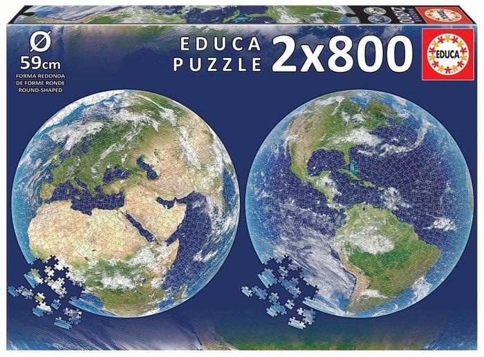 Puzzle educa circular 2x800 planeta tierra