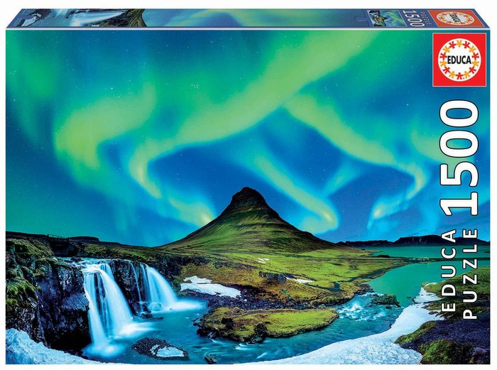 Puzzle educa 1500 piezas aurora boreal islandia