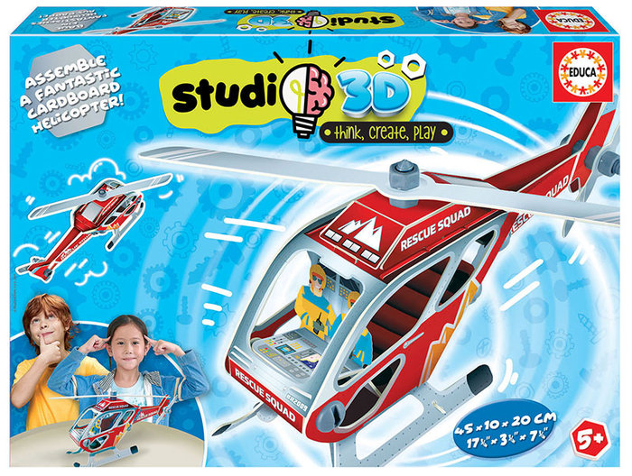 Puzzle helicoptero studio 3d