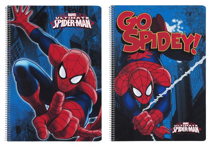 Libreta fº tapas duras 80 h. spiderman go hero