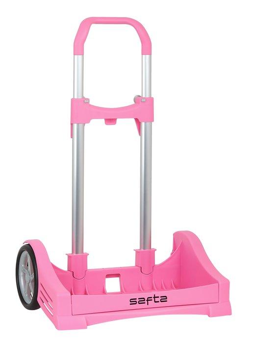 Carro portamochilas evolution rosa claro