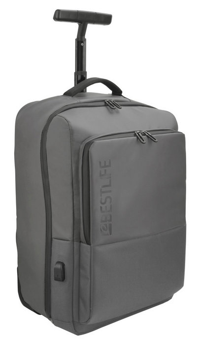 Mochila trolley para portatil 15.6 neoton grey bestlife