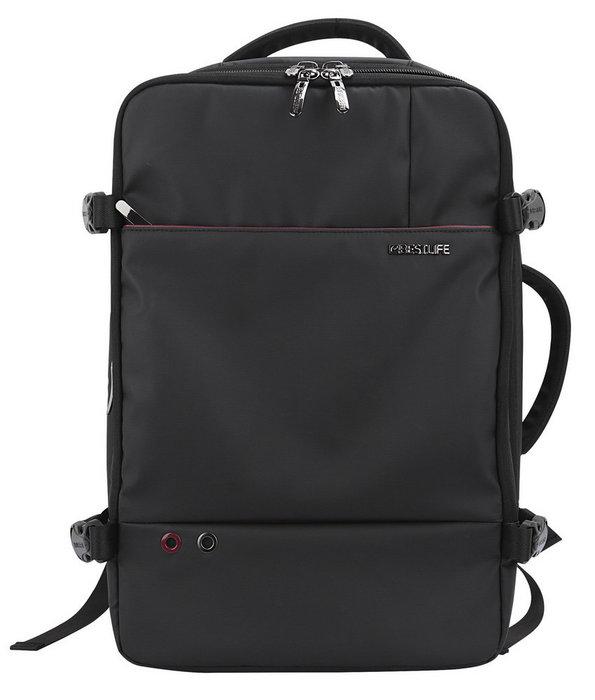 Mochila-maletin para portatil 17 quark black bestlife