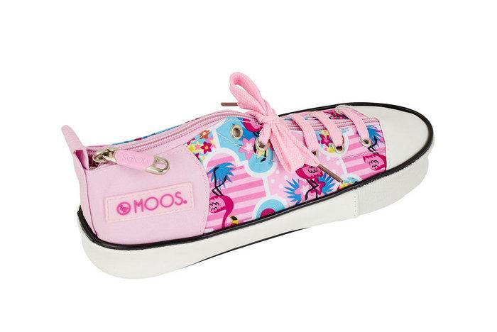 Estuche zapatilla moos flamingo pink