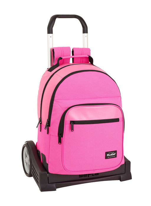 Mochila 773 con carro evolution blackfit8 pink