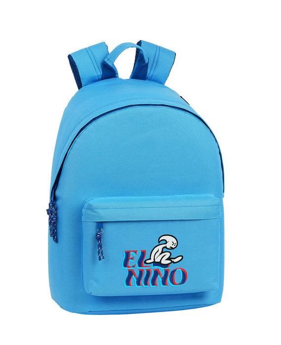 Mochila para portatil 14,1 el niÑo light blue