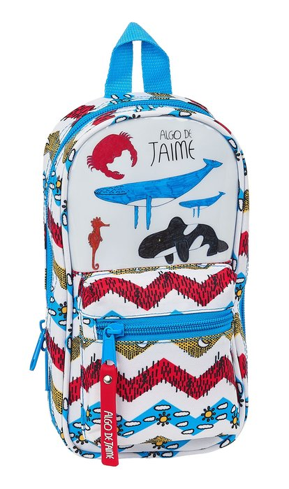 Plumier mochila con 4 portatodos llenos algo de jaime ocean