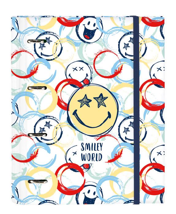 Carpeta 4 anillas de 30mm con recambio a4 100 smiley world a