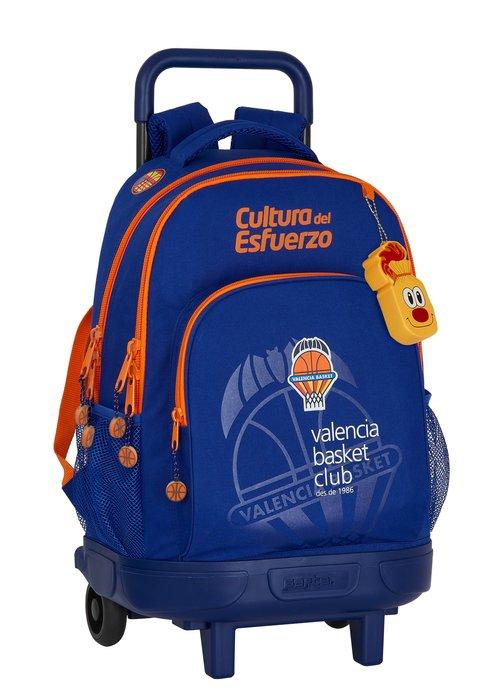 Mochila gde. c/ruedas compact extraible valencia basket club
