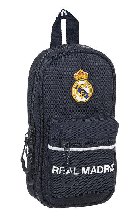 Plumier mochila con 4 portatodos vacios real madrid