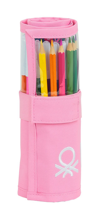 Plumier enrollable 27 pcs. benetton blooming