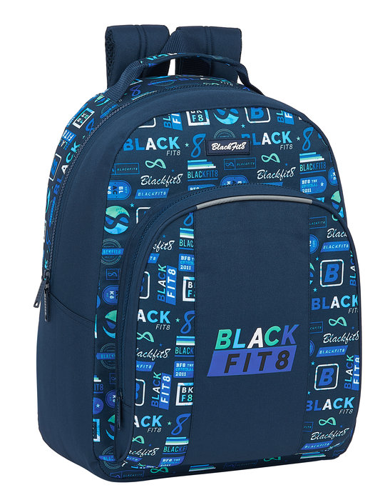 Mochila adaptable a carro reciclable blackfit8 logos retro