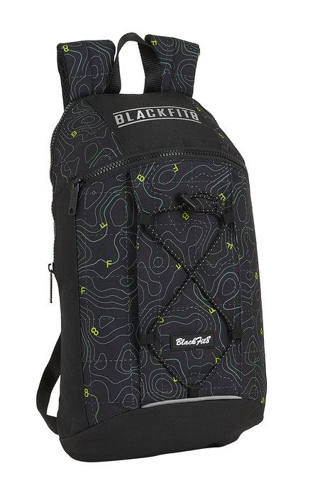Mini mochila bolsillo vertical reciclable blackfit8 topograp