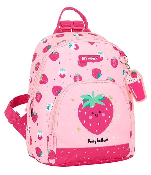 Mini mochila reciclable blackfit8 berry brilliant