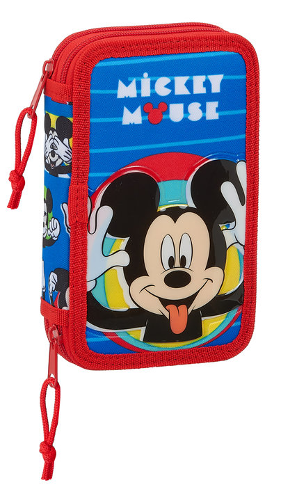 Plumier doble pqÑo 28 pcs. mickey mouse me time