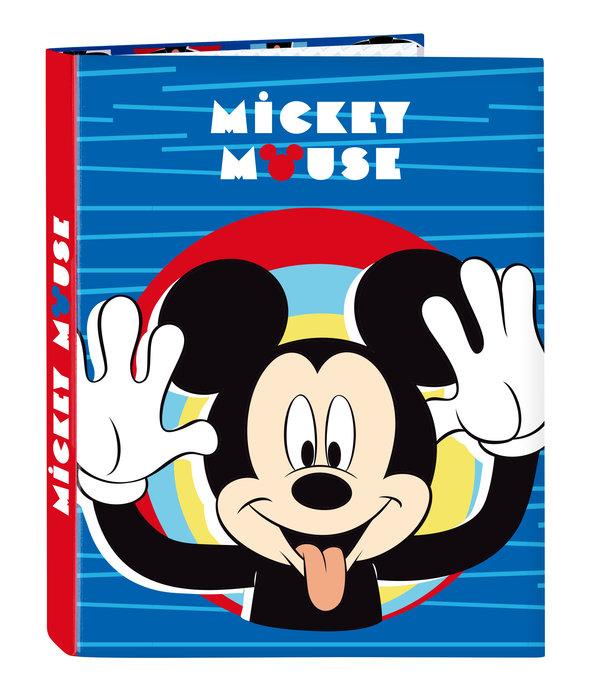 Carpeta carton fº 4 anillas mixtas mickey mouse me time