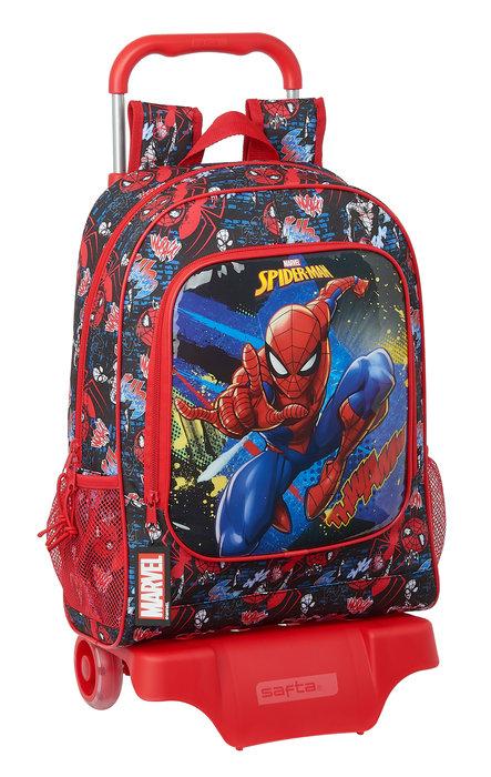 Mochila mod 522 con carro 905 spiderman go hero