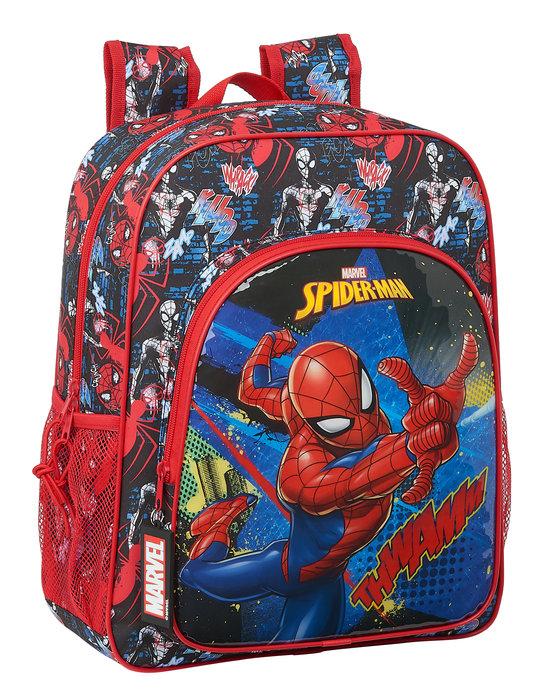 Mochila junior adaptable a carro spiderman go hero