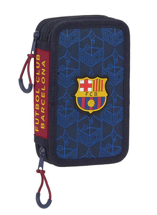 Plumier doble pqÑo 28 pcs. f c barcelona corporativa