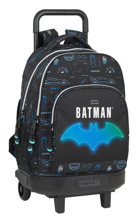 Mochila gde. c/ruedas compact extraible batman bat-tech