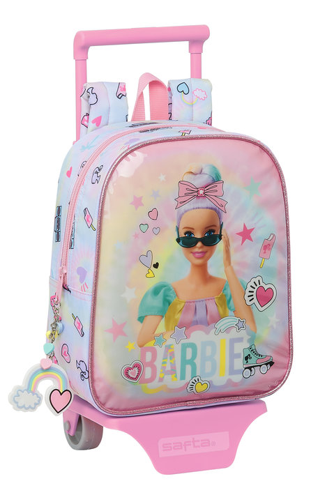 Mochila guarderia con ruedas barbie girl power