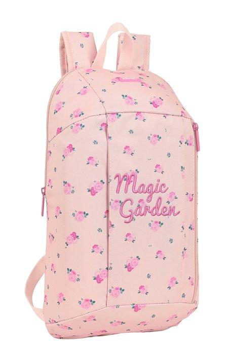 Mini mochila bolsillo vertical magic garden