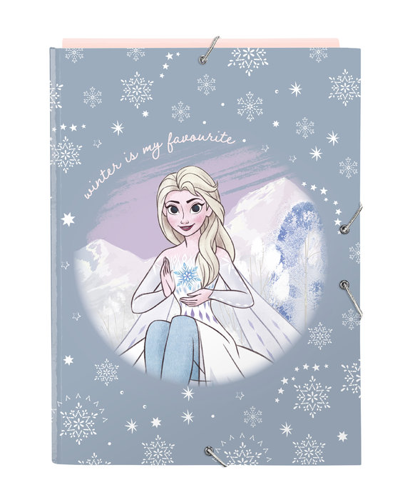 Carpeta carton folio gomas solapas frozen ii magical seasons