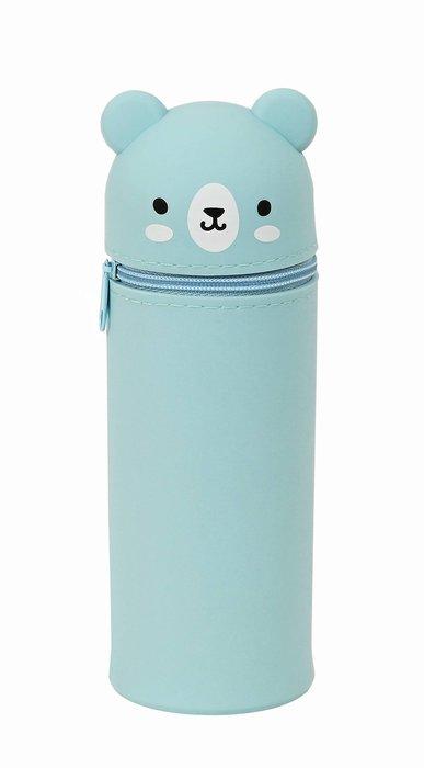 Portatodo botella silicona azul