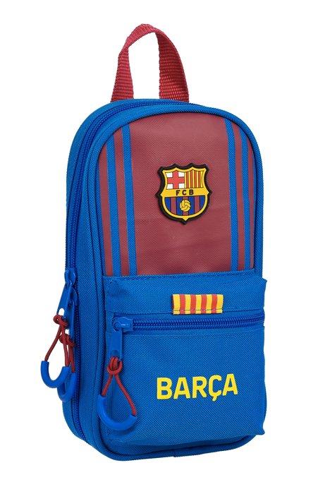 Plumier mochila con 4 portatodos llenos f.c. barcelona 1ª eq