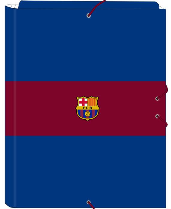 Carpeta carton folio gomas solapas f.c. barcelona 1ª equip.