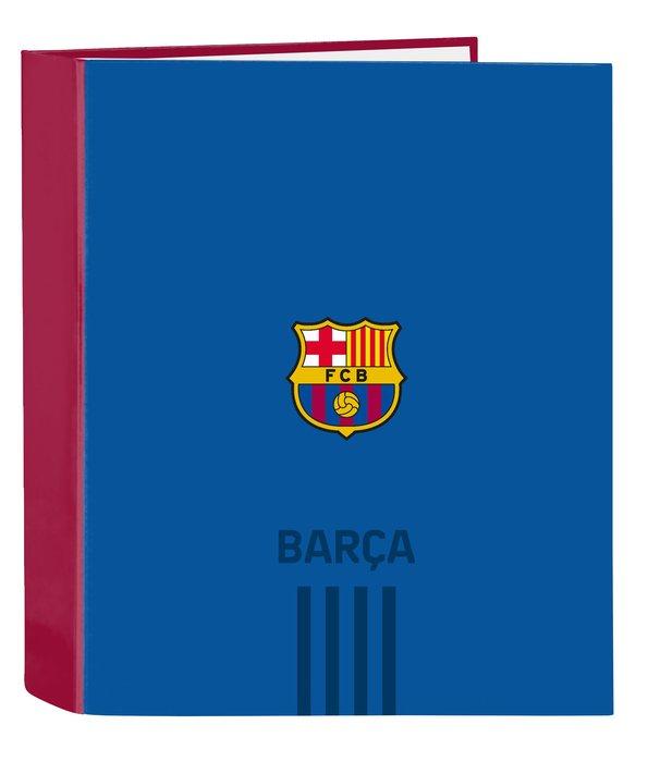 Carpeta carton folio 4anillas lomo ancho f.c. barcelona 1ª e