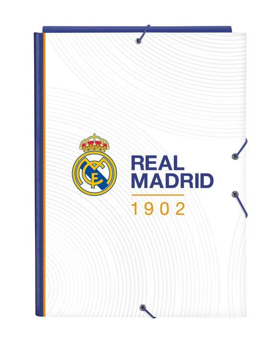 Carpeta carton folio gomas solapas real madrid 1ª equip. 21/
