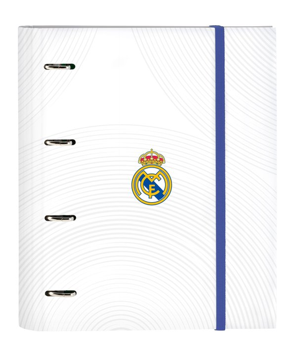 Carpeta 4 anillas de 30mm con recambio a4 100 h. real madrid