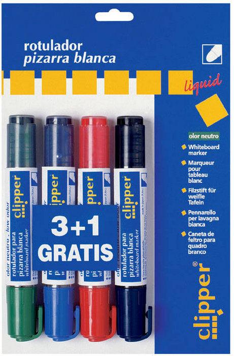 Blister rotulador liquido sin olor 3 + 1 gratis
