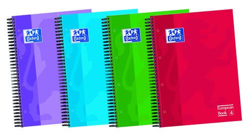 Bloc a4 120h te 5x5 oxford school colores surtidos 50% hoja
