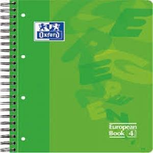 Bloc european a4 80h 4 taladros t/e 5mm oxford verde menta