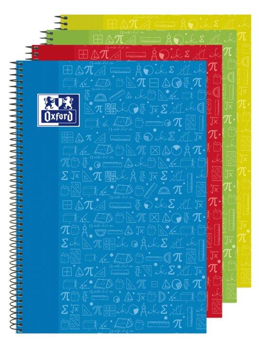 Bloc folio multiasignaturas icono matematicas 4x4 90g 80h