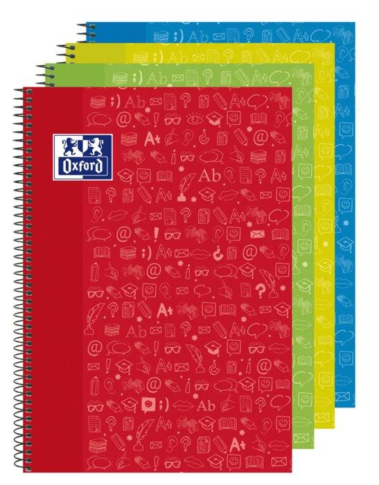 Bloc folio multiasignaturas icono lengua cuadro 4x4 90g 80h