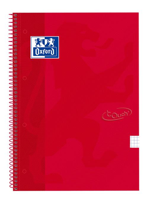 Bloc folio cuadro 4mm 80h extradura carmin touch