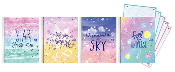 Bloc europeanbook 5 galactic pastel a4+ 120h cuadro 5x5