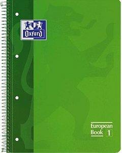 Bloc european a4 80h 4 taladros t/e 5mm oxford verde