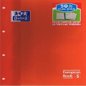 Bloc european a4 120h 4 taladros cuadro 5mm t/e oxford