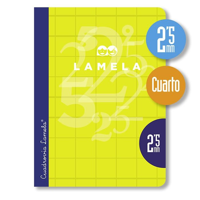 Libreta lamela 4º 50 hojas cuadrovia 2.5 mm