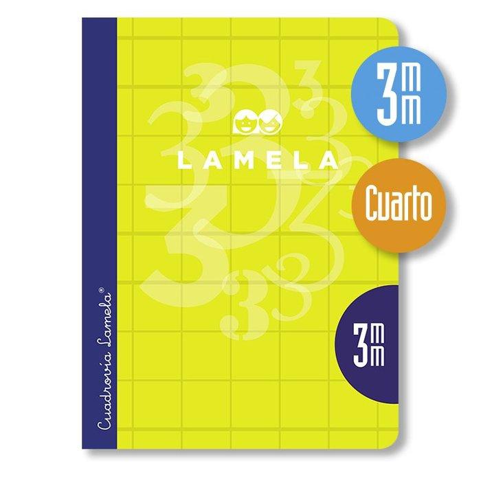 Libreta lamela 4º 50 hojas cuadrovia 3 mm