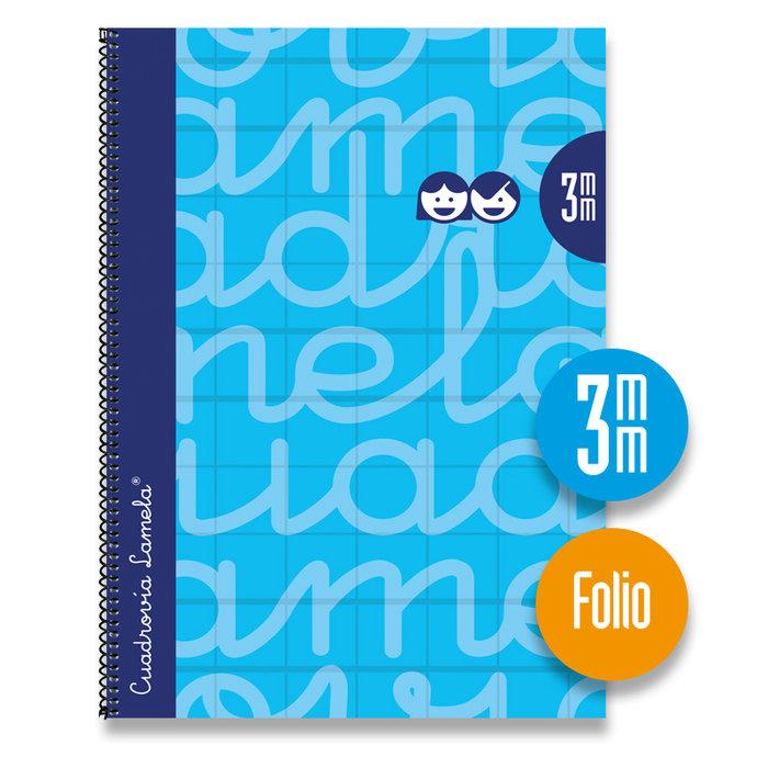 Bloc folio forrado cuadrovia 3mm 80h tapa dura azul