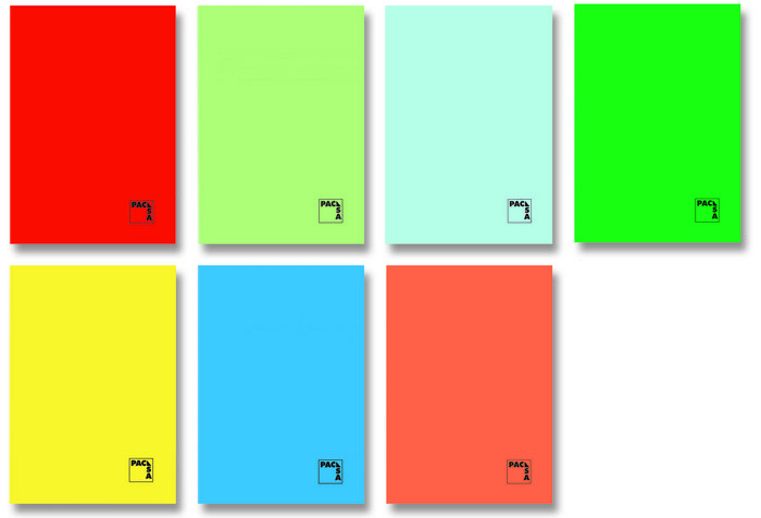 Libreta fº 50h 70gr pauta 2.5mm colores surtidos