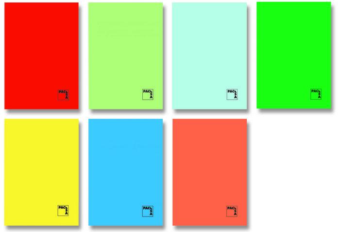 Libreta 4º 50h 70gr pauta 2.5mm colores surtidos