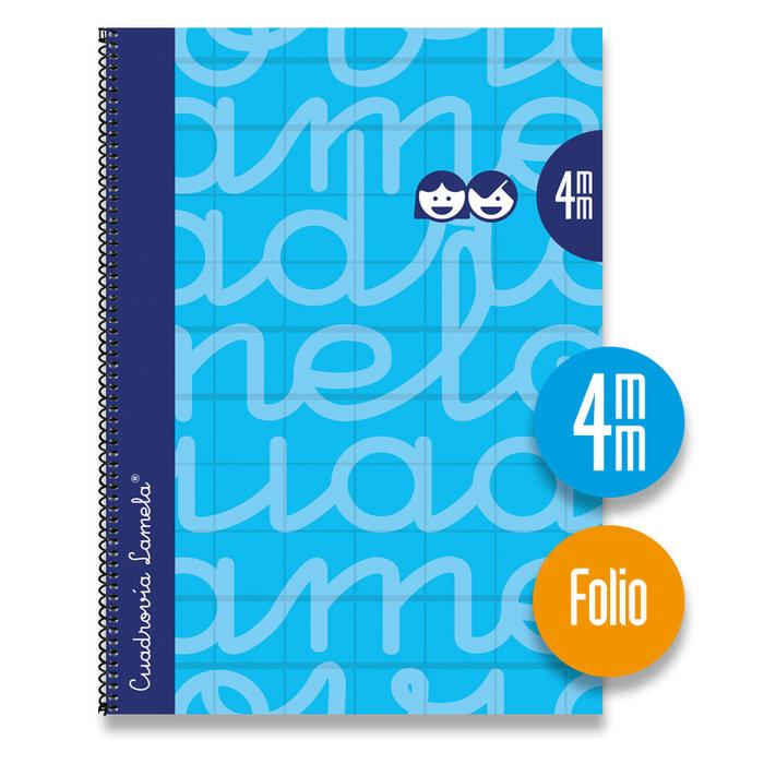 Bloc folio forrado cuadrovia 4mm 80h tapa dura azul