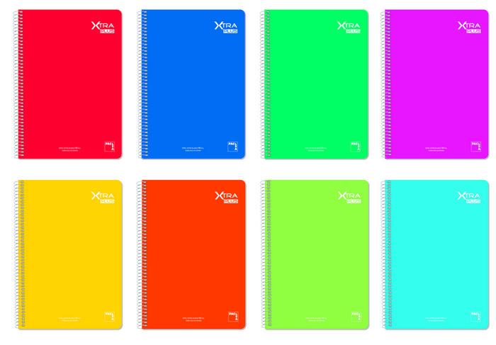 Bloc espiral folio 80h 90gr horizontal 8mm colores surtidos
